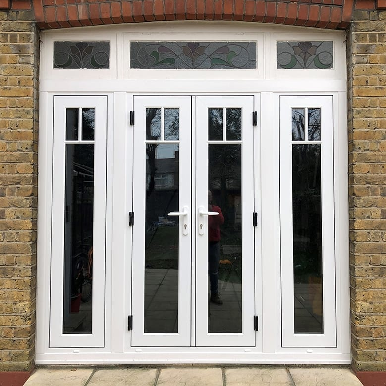 flush french doors