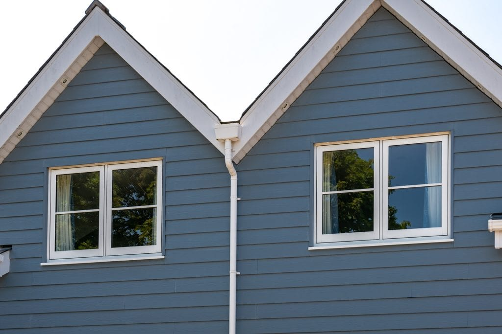blue upvc new england cladding flush timber look windows traditional